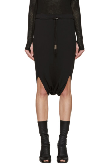Boris Bidjan Saberi - Black Jersey Sarouel Shorts