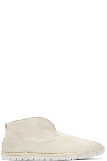 Marsèll Gomma - Cream Leather Sancrispa Ankle Boots