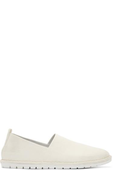 Marsèll Gomma - Cream Leather Sancrispa Espadrilles