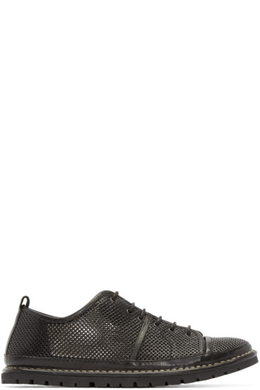 Marsèll Gomma - Black Leather Woven Sneakers