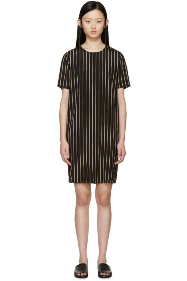 Won Hundred - Black & Tan Striped Alicia Dress