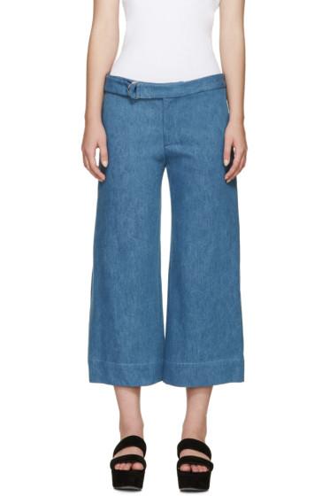 Nomia - Blue Wide-Leg Denim Trousers