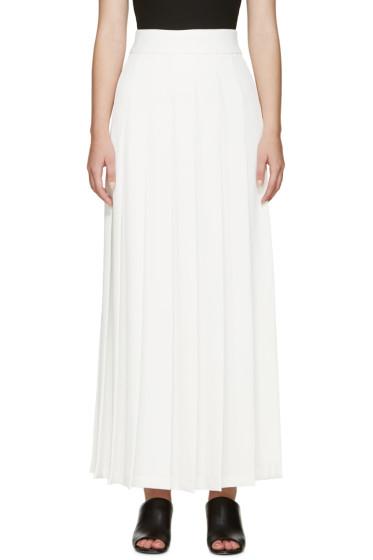 Nomia - Ivory Pleated Maxi Skirt