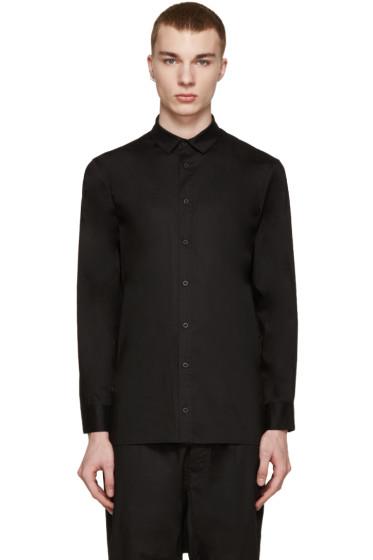 D by D - SSENSE Exclusive Black Layered Back Zip Shirt