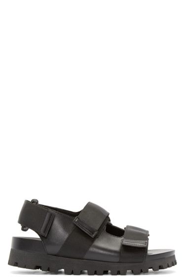 D by D - Black Grosgrain Strap Sandals