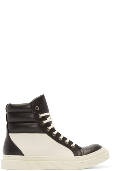 D by D - Black & Cream High-Top Sneakers