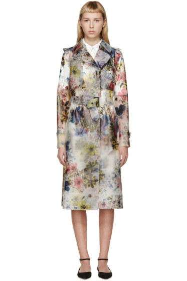 Erdem - Multicolor Vinyl Charlotta Trench Coat