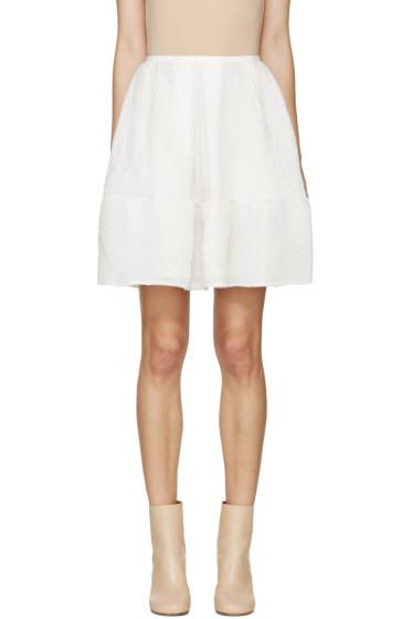 Erdem - White Cloqué Levia Skirt
