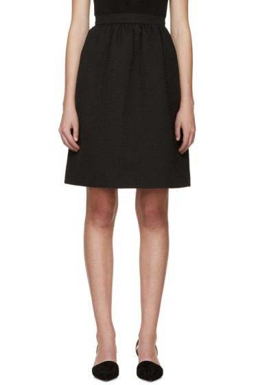 Erdem - Black Jacquard Kitty Skirt