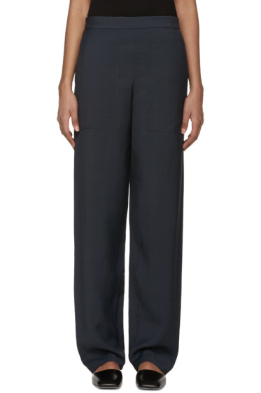 Lemaire - Navy Wide-Leg Trousers