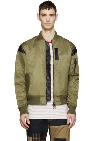 Mostly Heard Rarely Seen - Green Nylon Parachute Bomber Jacket