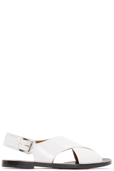 Flamingos - White Patent Leather Mango Sandals