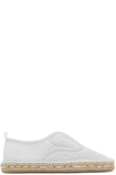 Flamingos - White Mesh Jet Set Espadrilles