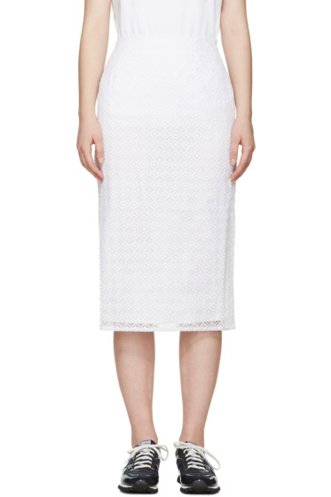 Edit - White Embroidered Organza Skirt