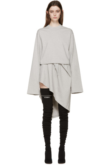 Vetements - Grey Jersey Wrap Dress