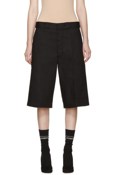 Vetements - Black Twill Oversized Shorts