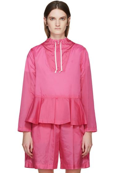 Comme des Garçons Girl - Pink Nylon Peplum Jacket