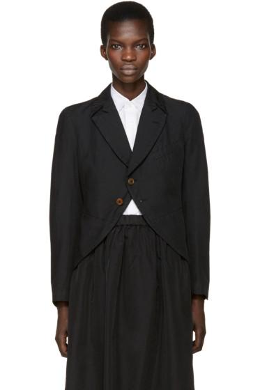 Comme des Garçons Comme des Garçons - Black Twill Two-Button Blazer