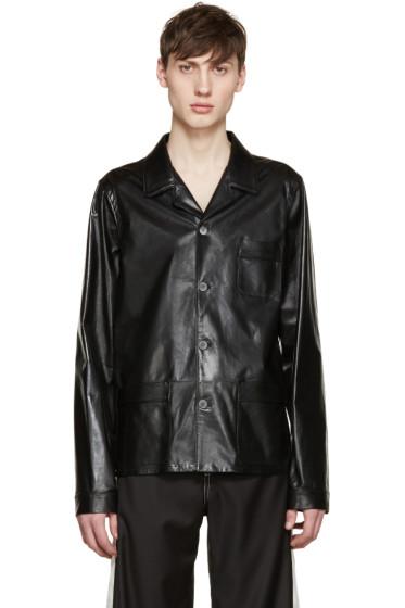 Loewe - Black Leather Jacket
