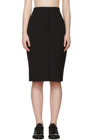 Harmony - Black Gabardine Joan Skirt