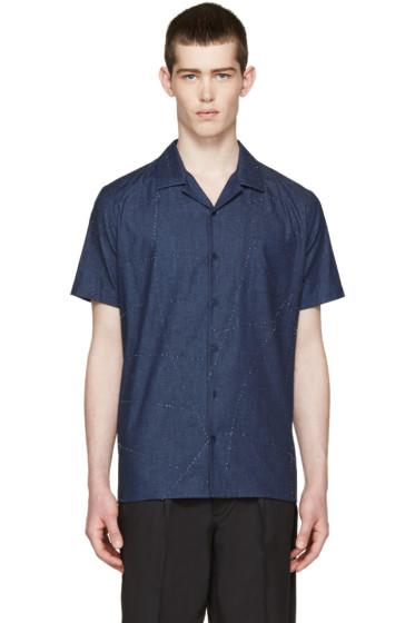 Fendi - Indigo Chambray Topstitched Shirt