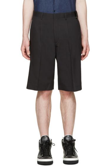 Fendi - Black Silk Shorts
