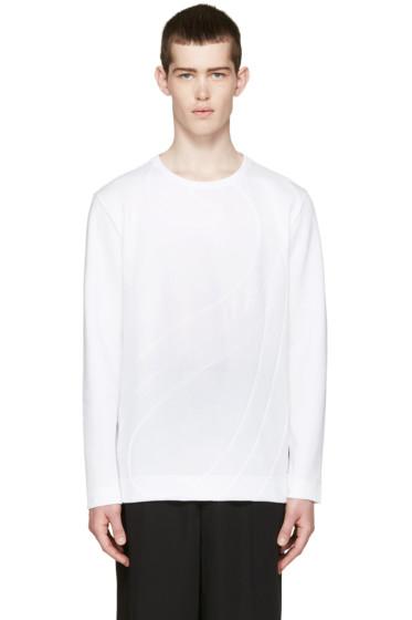 Fendi - White Panelled Pullover