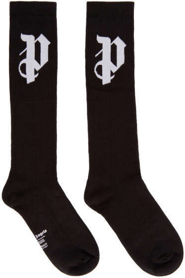 Palm Angels - Black Logo Socks