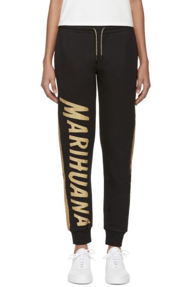 Palm Angels - Black & Gold Mariuhana Lounge Pants