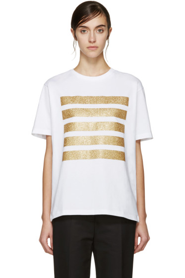 Palm Angels - White Five Stripes T-Shirt