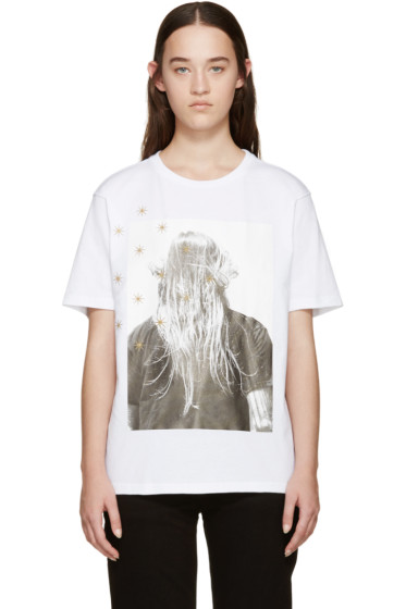 Palm Angels - White Iconic Angels T-Shirt