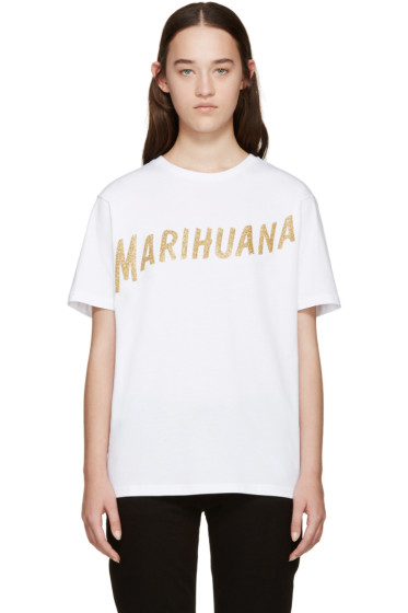 Palm Angels - White Marihuana T-Shirt