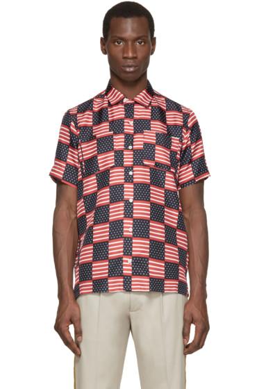 Palm Angels - Tricolor Silk Flag Shirt