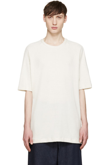 Song for the Mute - Off-White Knit Raglan T-Shirt
