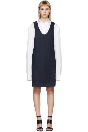 Rosetta Getty - Indigo Denim Jumper Dress