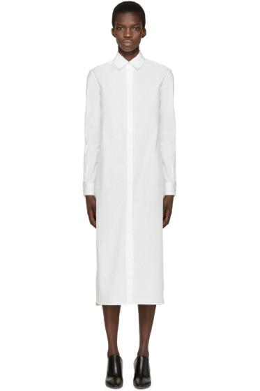 Rosetta Getty - Ivory Poplin Shirt Dress