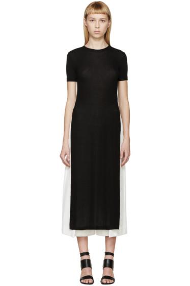 Rosetta Getty - Black Ribbed T-Shirt Dress