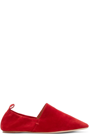 Rosetta Getty - Red Suede Loafers