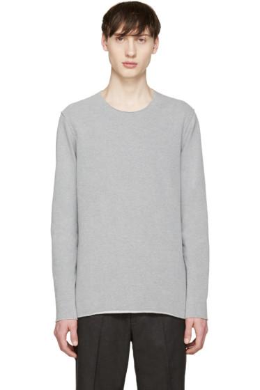 Attachment - Grey Raw Edge Pullover
