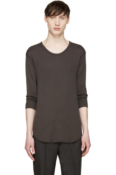 Attachment - Grey Ribbed T-Shirt