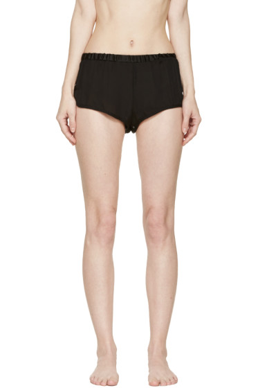 Araks - Black Washed Silk Jada Shorts