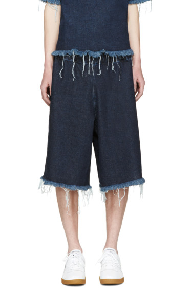 Marques Almeida - Indigo Denim Tracksuit Shorts