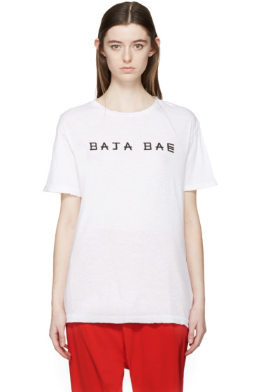 Baja East - White Logo T-Shirt