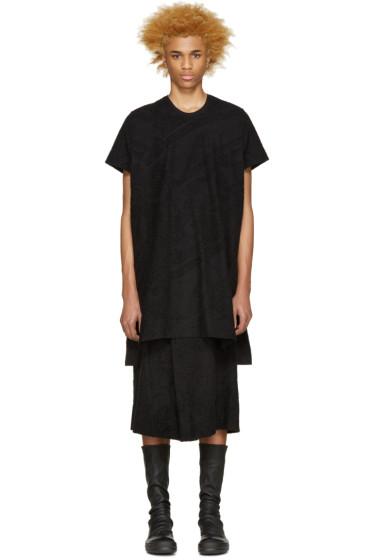 NILøS - Black Terrycloth T-Shirt