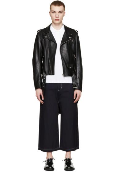 Moschino - Black Leather Runway Biker Jacket