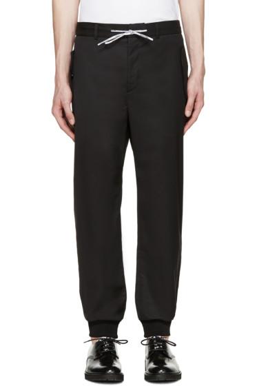 Moschino - Black Wool Drawstring Trousers