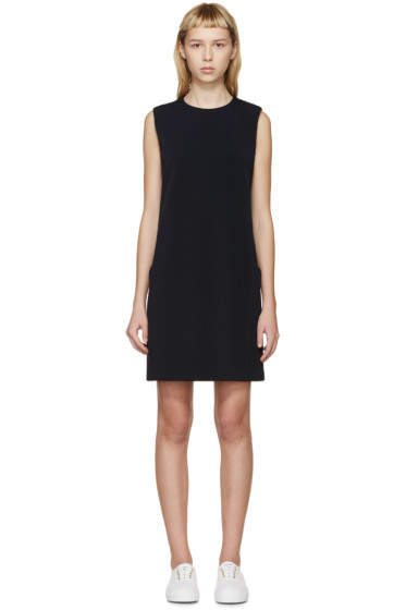 Atea Oceanie - Navy Bonded Jersey Dress