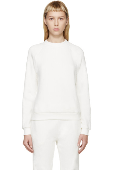 Atea Oceanie - Ivory Ribbed Cotton Sweater