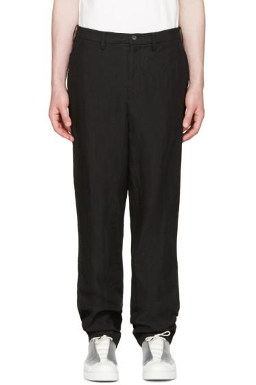 Issey Miyake Men - Black Hemp & Linen Trousers