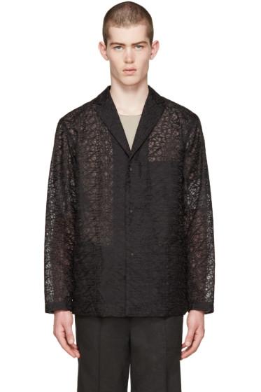 Issey Miyake Men - Black Embroidered Blazer